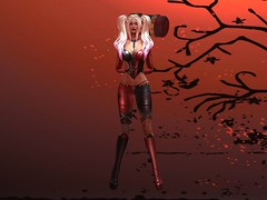Harley Quinn Halloween Costume (Tameless) (thewhitpit) Tags: conetteharleyquinncostume alyceangelshape tamelesshairainsleymegapack glamaffairskinveraindia blacklacebeautychromaticeyeshadowandjellyredlips mayflymesheyesluminoussapphire blueeyes femaleavatar tall tan halloweencostume costume lelutkameshheadlotte blondehair maitreyameshbodylara