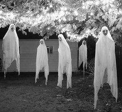 Ghosts (Morganthorn) Tags: halloween haunted house spooky creepy skeleton spider ghost ghoul zombie horror