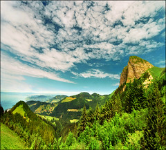 And what view awaits on the top (Katarina 2353) Tags: landscape switzerland rochersdenaye katarinastefanovic katarina2353