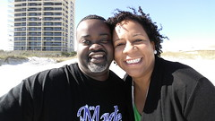 Quick pit stop for T-Mar and his boo at the beach in Jacksonville Florida