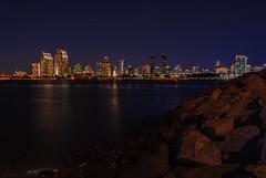 san diego at night - from coronado ferry landing (laughlinc) Tags: california city cityscape coronadoferrylanding laughlinc lightroom lightroom5 longexposure night nikon1755mm24 nikond80 sandiego skyline water nikon