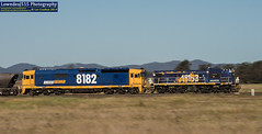 48153 & 8182 near Narwonah (Les 'LowndesJ515' Coulton) Tags: coco pn alco emd graintrain pacificnational centralwest 8182 8832 standardgauge electromotivedivision 81class 48class 48153 narwonah