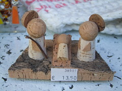 13.50! (cyclingshepherd) Tags: 2014 december portugal algarve faro christmas nativity shop shopping outrageous price cyclingshepherd cork oak bizarre odd weird jesus mary joseph art 1350 38501 1350  kitsch twee corks crib s100fs pib