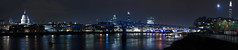 Thames Panorama (mattrkeyworth) Tags: london thames night zeiss nacht stpauls milleniumbridge stpaulscathedral nuit blackfriarsbridge sirchristopherwren theshard mattrkeyworth sonya7r sel55f18z ilce7r sonnartfe1855