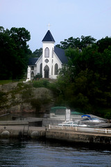 A church in Rockport , Canada (singingdaisy) Tags: canada church rockport thegalaxy frameit eperke visionaryartsgallery