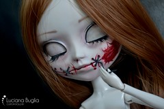Custom #11 - M.I.O. Kit Pale Skin (Cutie Disease) Tags: dead blood doll gore stitches violence pullip artdoll custom commission customizada