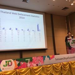 ในงาน Joomladay 2014 อ.ปริญญาให้ข้อมูลมาว่า Website ของประเทศไทยโดยเฉพาะเว็บของรัฐบาลไทยโดน hacker ทำการฝัง Malware มากที่สุดในโลก คือ 85% ของทั้งโลกคือเว็บราชการไทย , 10% เป็นของรัฐบาลจีน และอีก 5% คือเว็บราชการทั้งโลกรวมกัน แหม่ เว็บราชการไทยช่างปลอดภัย