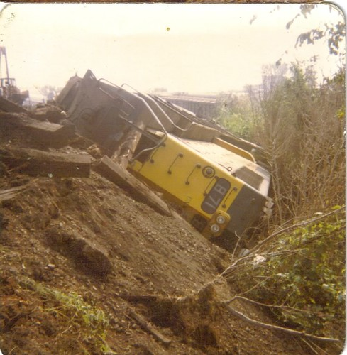 CNW RR Train Wreck