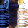 #BlueAndBlack or #WhiteAndGold ?  The middle photo is the original dress which is clearly Blue with Black lace.  However, depending on your phones lighting, inverting settings or the way your eyes adjust to hues, you may see White and Gold. This still do