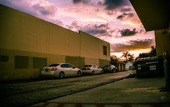 Alley Sunset (Spammie33) Tags: street sunset cars nature colors beauty clouds landscape outside outdoors alley sundown streetphotography scene wanderlust rays dslr goldenhour canon6d