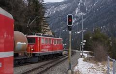 707_Ge 6-6 II am 25022015 in Tiefencastel (2) (Jungferndorf41) Tags: schweiz rhb graubünden tiefencastel rhätischebahn