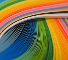 Somewhere Over - EXPLORED (charlottz - Charlotte G Photography) Tags: abstract macro lines closeup project paper rainbow flickr pattern colours craft swirl curl coil quilling explored macromonday