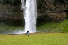On MY WAY! (brynjarviggos) Tags: nature waterfall iceland pace runner seljalandsfoss