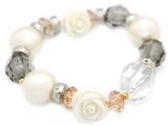 5th Avenue White Bracelet P9409A-2