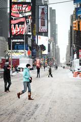 Monster Storm 'Juno' (arch*templar) Tags: nyc newyorkcity snow zeiss manhattan snowstorm timessquare blizzard juno 2015 snowpocalypse monsterstorm makroplanart250