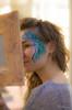 Face painting | Amina Brno (George Krokodylik) Tags: portrait girl beautiful beauty painting facepainting mirror pentax body availablelight brno bodypainting brunett