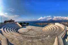 089873960099369 (teddikollmann1924) Tags: blue summer sky art clouds canon theater mark images fisheye greece ii getty 5d mm marble ef hdr 815 dimitris patras realistic patra dimitrios flickrduel   tsortanidis