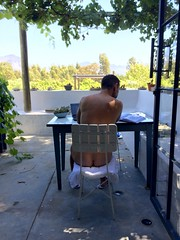 trying to concentrate on research, 34 degrees celsius (francois f swanepoel) Tags: hot arse bum heat 34 buttocks malenude celsius whitenude whitemalenude