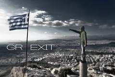 * GREXIT * (tSos Greq) Tags: europe euro greece grecia economy greekflag eurozone greekcapital grexit
