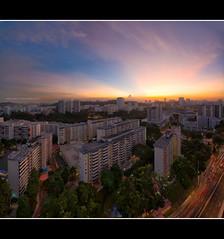 Elevated Elation (HakWee) Tags: sunset singapore hdb tiongbahru