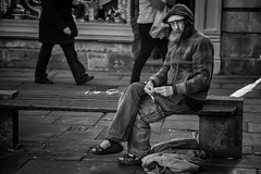 staring (Daz Smith) Tags: city portrait people urban bw streets canon blackwhite bath cigarette candid citylife thecity streetphotography staring rolling canon6d dazsmith bathstreetphotography