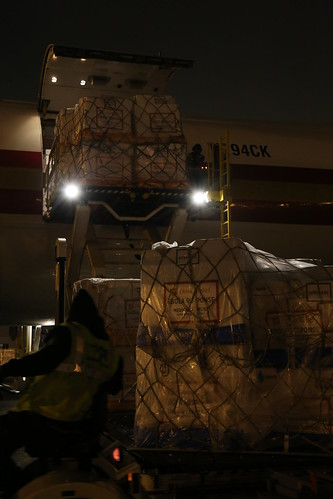Ebola Facility Modules, Direct Relief, Airlift, LAX 121