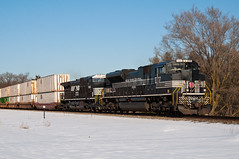 15-819 (George Hamlin) Tags: new york nyc railroad trees snow heritage train photography virginia photo george diesel ns norfolk central railway double southern locomotive decor freight stacks unit 211 hamlin emd intermodal catlett sd70ace