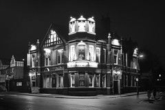 Horse & Jockey, Woodgreen, Wednesbury 29/12/2014 (Gary S. Crutchley) Tags: street wood uk travel england urban bw white black west green heritage history beer monochrome bar night dark ed mono evening town pub inn nikon long exposure raw slow nightscape shot nightshot image time britain united country great ale kingdom tavern shutter and after local nightphoto nikkor townscape staffordshire westmidlands 28300mm vr afs midlands d800 blackcountry nightimage f3556g sandwell hostelry wednesbury nightphotograph