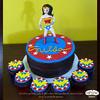 Wonder Woman (starshuffler) Tags: party woman cake comics stars wonder dessert justice dc sweet chocolate ganache cupcake wonderwoman superhero ww league justiceleague superfriends fondant earnest gumpaste bakes earnestbakes
