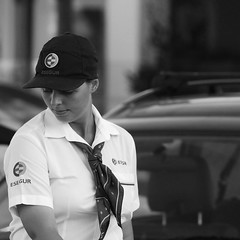 Beautiful security woman