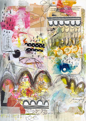 Art Journal - SEEN (Roben-Marie) Tags: mixedmedia stitching layers stamped pained artjournaling doodled robenmarie