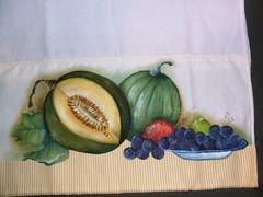 frutas (LID ARTS) Tags: de em prato panos pintura tecido