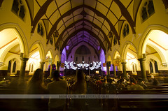 White Night Melbourne 2015 - Scots' Church (Naomi Rahim (thanks for 2 million hits)) Tags: longexposure art church night lights lowlight nikon interior illuminations culture australia melbourne event projections 2015 scotschurch colonise 1116mm alintakrauth nikond7000 whitenightmelbourne