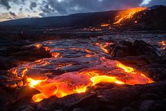 Lava Flow (geekyrocketguy) Tags: hot kalapana volcano hawaii lava nationalpark bigisland volcanoes 61g