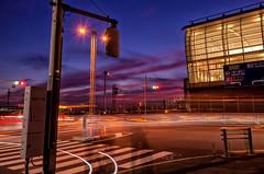 Sunset on last Sunday (703) Tags: da18135mm haneda hanedaairport japan lighttrails pentaxk5 tokyo tokyomonorail airport cityscape dusk lightrails night nightscape nightscene nightview sunset twilight           8