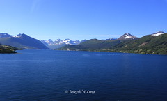 Alesund, Norway (Joseph W Ling) Tags: blue mountain snow seascape green ice nature water norway landscape scenery quiet view outdoor peaceful tranquility peak mountainside alesund