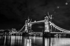 Tower Bridge London. (HiJinKs Media...) Tags: skyline london towerbridge bridges bridge sky blackwhite night city nightlife water riverthames england wondersoftheworld history clouds world iconic worldlandmarks