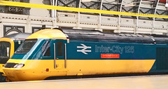 Inter-City 125 43002 - Sir Kenneth Grange (cocabeenslinky) Tags: intercity 125 43002 sir kenneth grange july 2016 paddington railway station london uk pioneer production power car great western gwr group president hst yellow blue red sign photos photography art nexus 5 google android cocabeenslinky class 43 designer train 2 may 40th anniversary lge