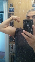 FLEXING After A Workout off to Get A B12 SHOT! (Jonathan C. Aguirre) Tags: muscles arms shots biceps flexing b12