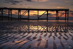 Sand waves (Steve Clasper) Tags: hartlepool steetleypier steveclasper northeast coast coastal beach sand ripples reflections sunset pier steetley northern north uk