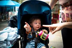 Oh dear god LOOK!!! (tom.ohle) Tags: baby boy edmonton pentax pentaxk1 fa31mmf18limited pentaxsmc pentaxsmcfa31mmf18limited look pointing stroller eeek smc