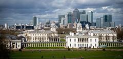 London view from Greenwich (PauliMatze) Tags: london greenwich skyline skyscraper hochhaus uk england panorama