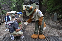 Parker at Rail Road Day (vastateparksstaff) Tags: railroad nature outside natural tunnel trail fox parker