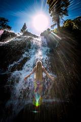 20160625-Sun Falls --6 (napaeye) Tags: lake tahoe napaeye laketahoe waterfalls fallenleaflake lillylake california ca women hairflip