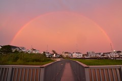 Reading Rainbow (seanbeebe_photo) Tags: sunset colors rain clouds newjersey rainbow nj avalon thunderstorms