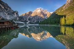 Dolomite Lake - Sunrise (Achim Thomae) Tags: italien summer alpen unescoworldheritage dolomites sdtirol dolomiten 2016 altoadiga thomae achimthomae unescoweltnaturerbe