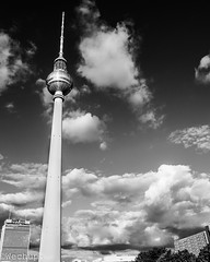 Berlin View (wechup) Tags: bwphotography ddr travel wechup monumento urban monochrome architecture televisiontower tower building street sky bw berlinview view berlin