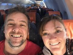 empty plane selfie