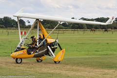 G-OTOP - 2009 build P & M Aviation QuikR, taxiing for departure at Old Warden during the 2016 Gathering of Moths (egcc) Tags: 2016gatheringofmoths 8471 egth flexwing gotop gatheringofmoths lightroom microlight oldwarden pmaviation pain quikr rotax912 shuttleworth weightshift