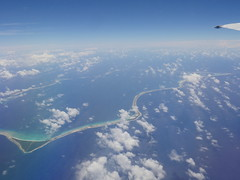 Flying above the Marshall Island archipelago!
